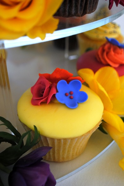 A fresh and vibrant cupcake for birthdays and celebrations.